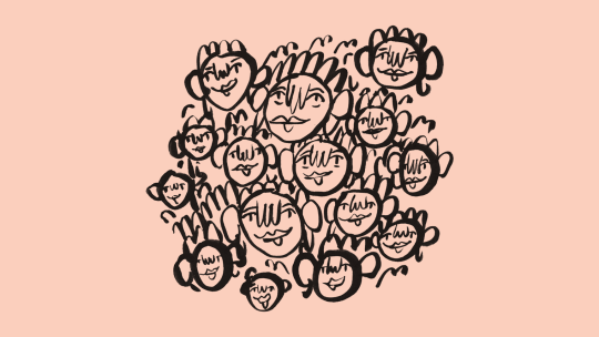a bunch of faces