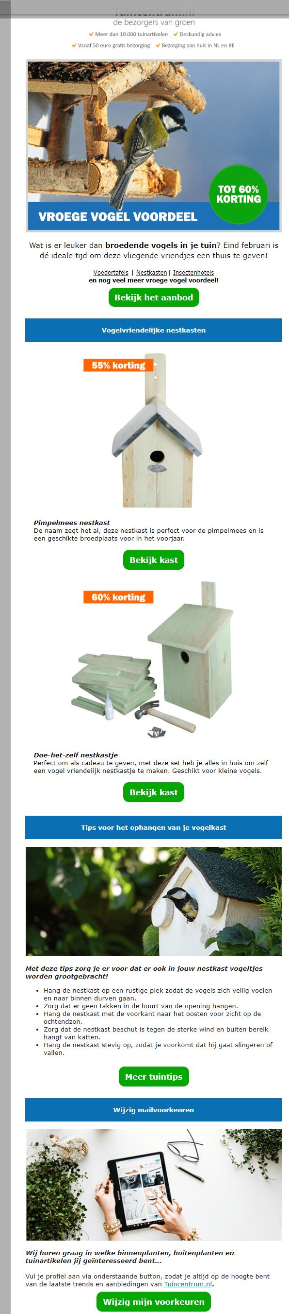 Image of a newsletter with bird house assemblies