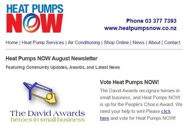 Image of Heat Pumps Now newsletter