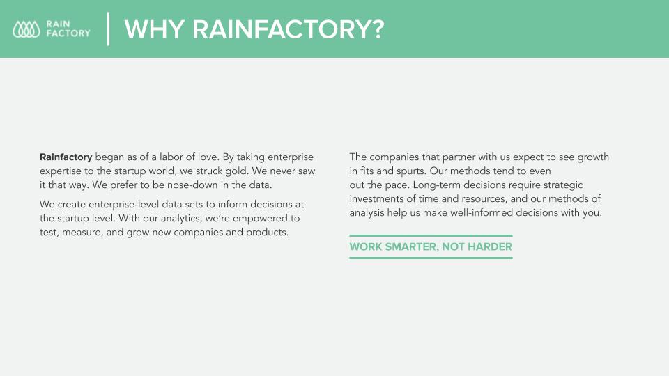 Image of Description of Rainfactory