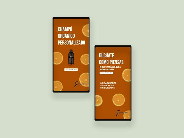 side by side mobile layout of campaign