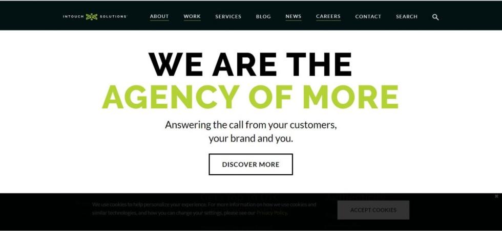 Screenshot from custom website design.