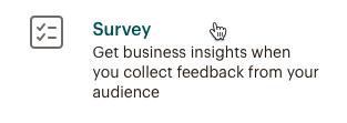 Create-survey-option