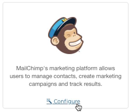 Mailchimp for LemonStand - cursor clicks - configure