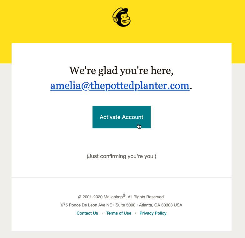 Cursor Clicks - Activate Account - Sign Up