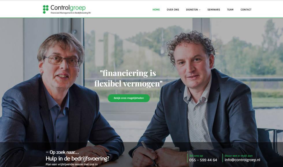 Image of ControlGroep website