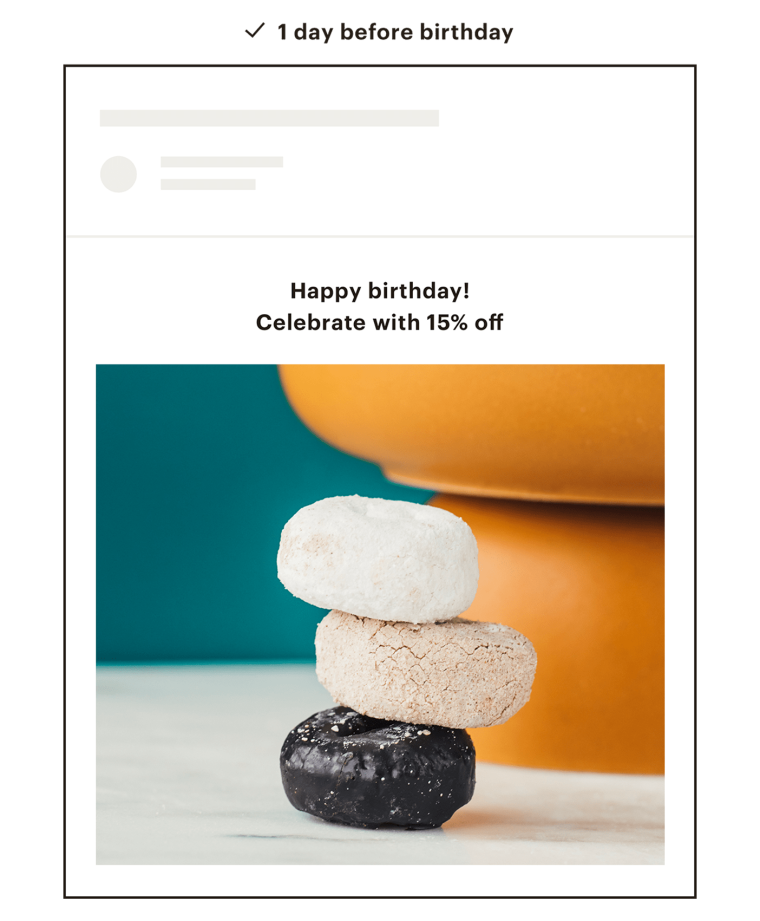 An example of a Mailchimp email featuring some decorative vases