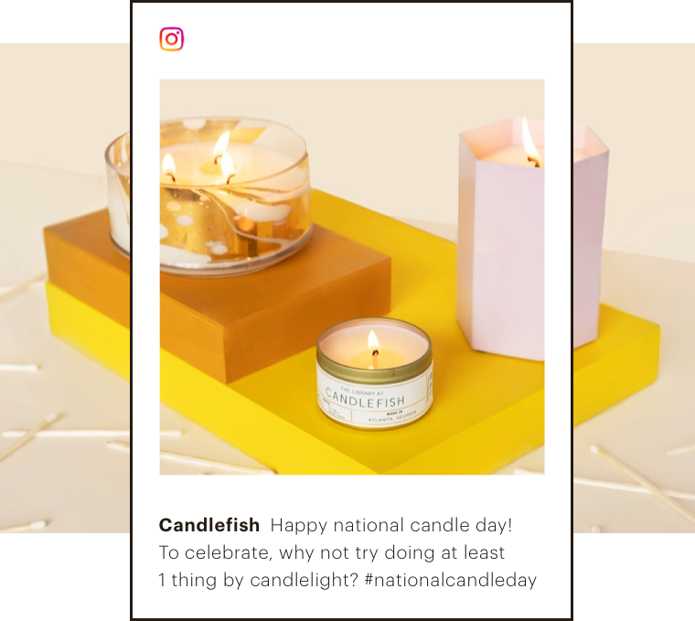 Abstract UI of an IG post created to celebrate a fun holiday or trend