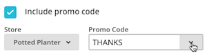 choose a promo code