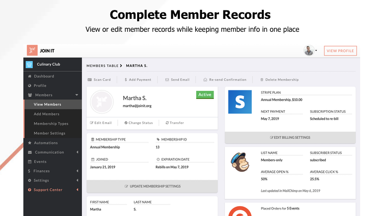 Image of member records with text Complete member records