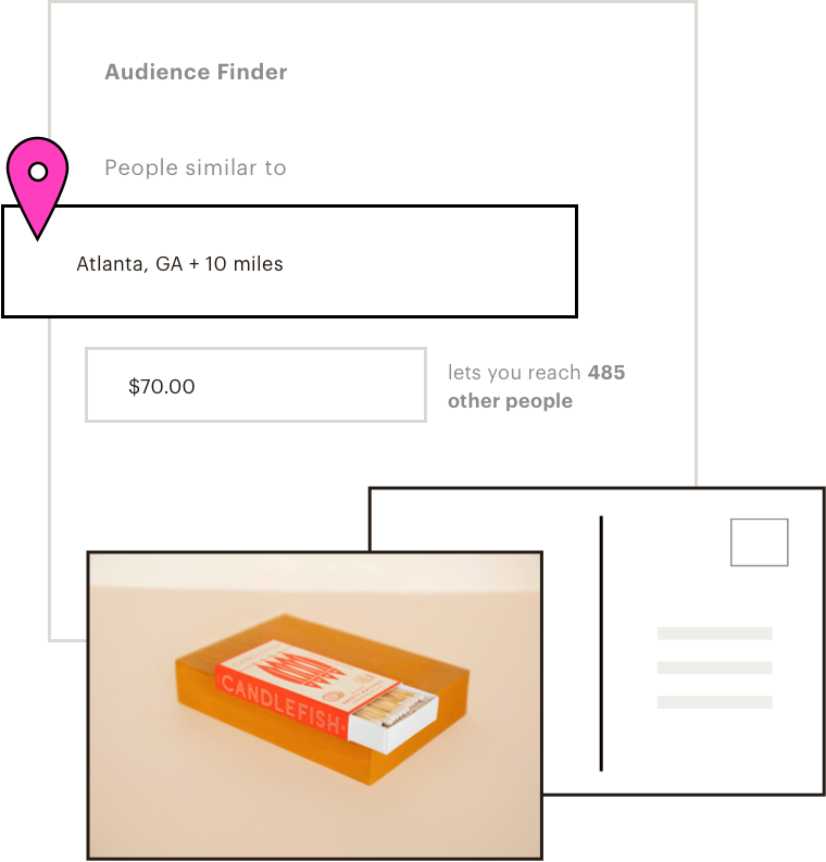 UI of lookalike audience suggestions