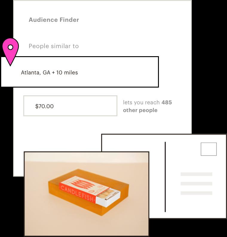 UI of lookalike audience suggestions