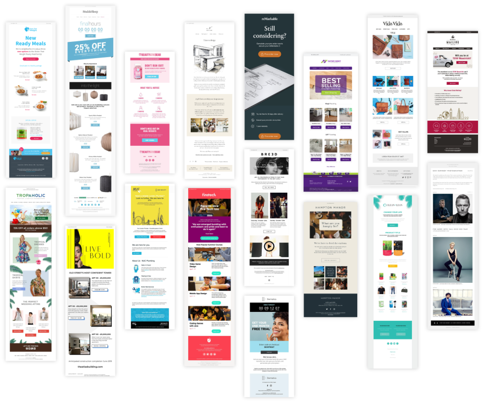 Image of different newsletters