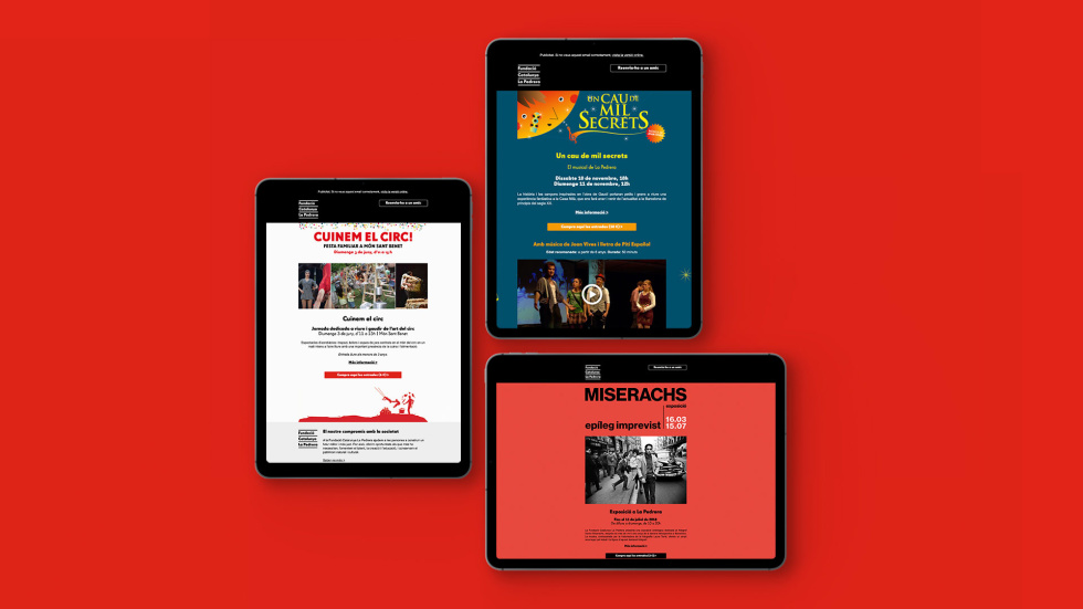 Image of email campaigns on tablets