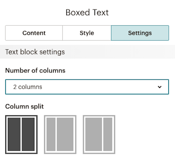 use boxed text content blocks