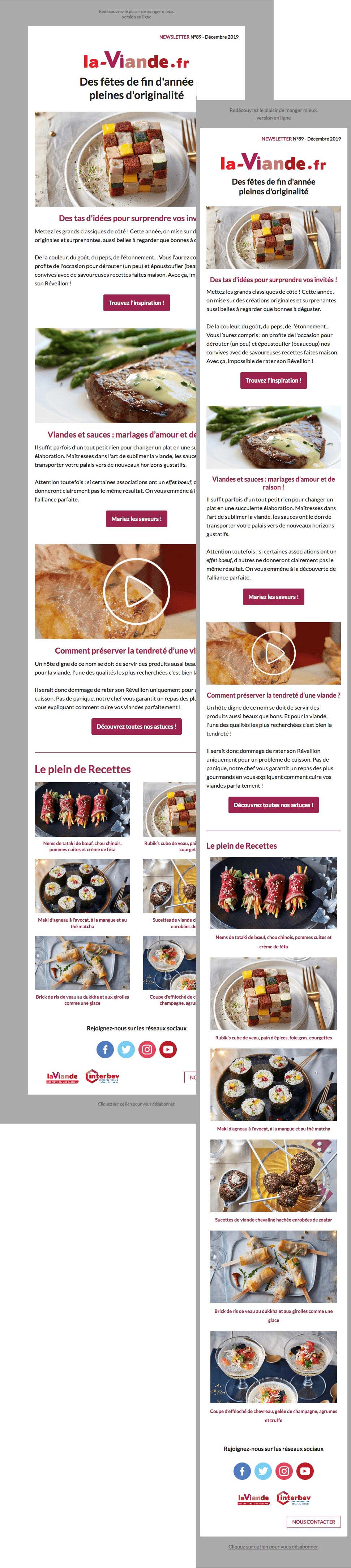 Image of laviande.fr newsletter