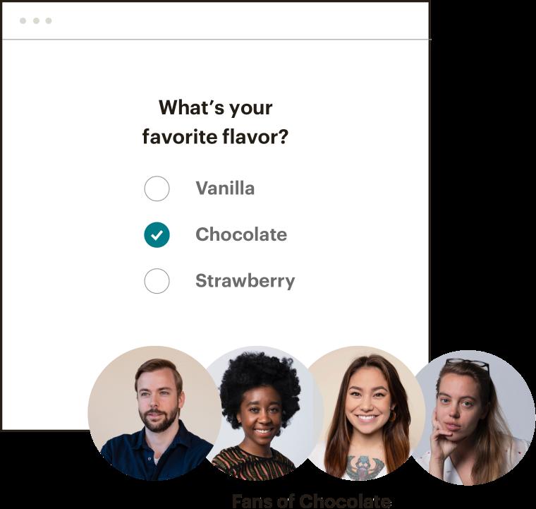 "A survey form asking ""What's your favorite flavor?"""