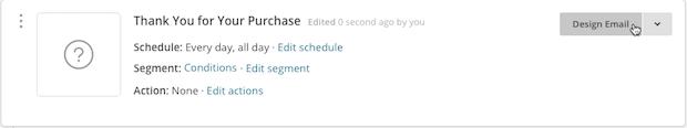 hacer clic en design email (diseñar correo electrónico)