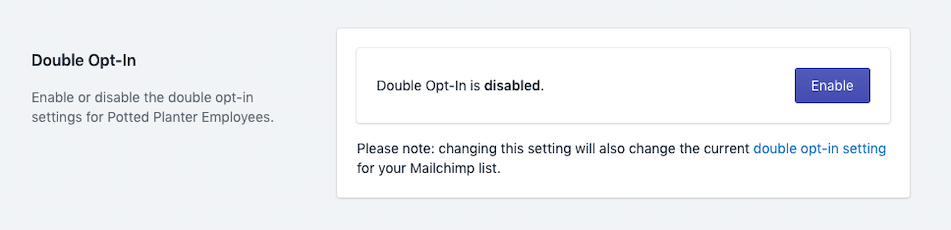 ShopSync - Double Opt In Settings - Enable