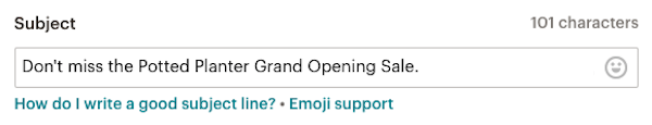 enter subject line