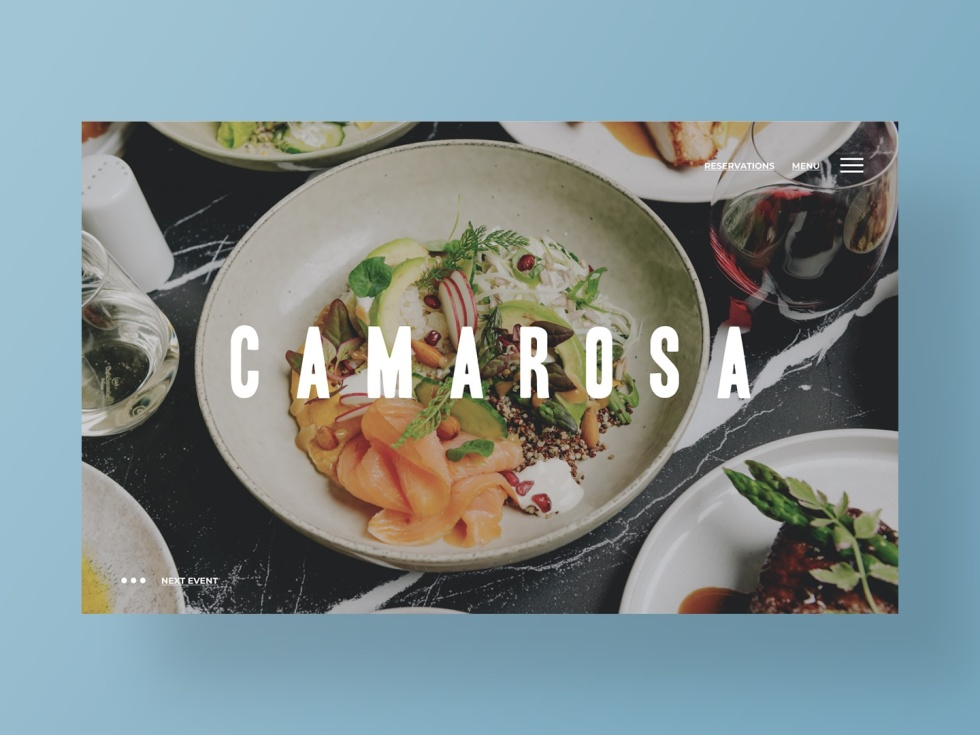 Image of plates of food with the text Camarosa