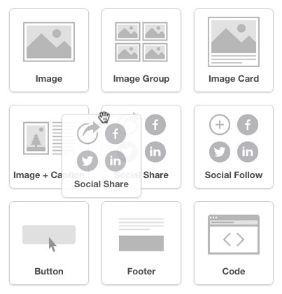 Click and drag Social Share into layout
