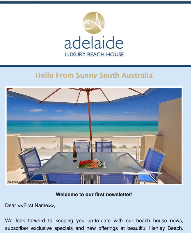 Image of newsletter for adelaide