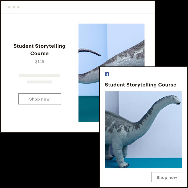Dinosaur student storytelling ad