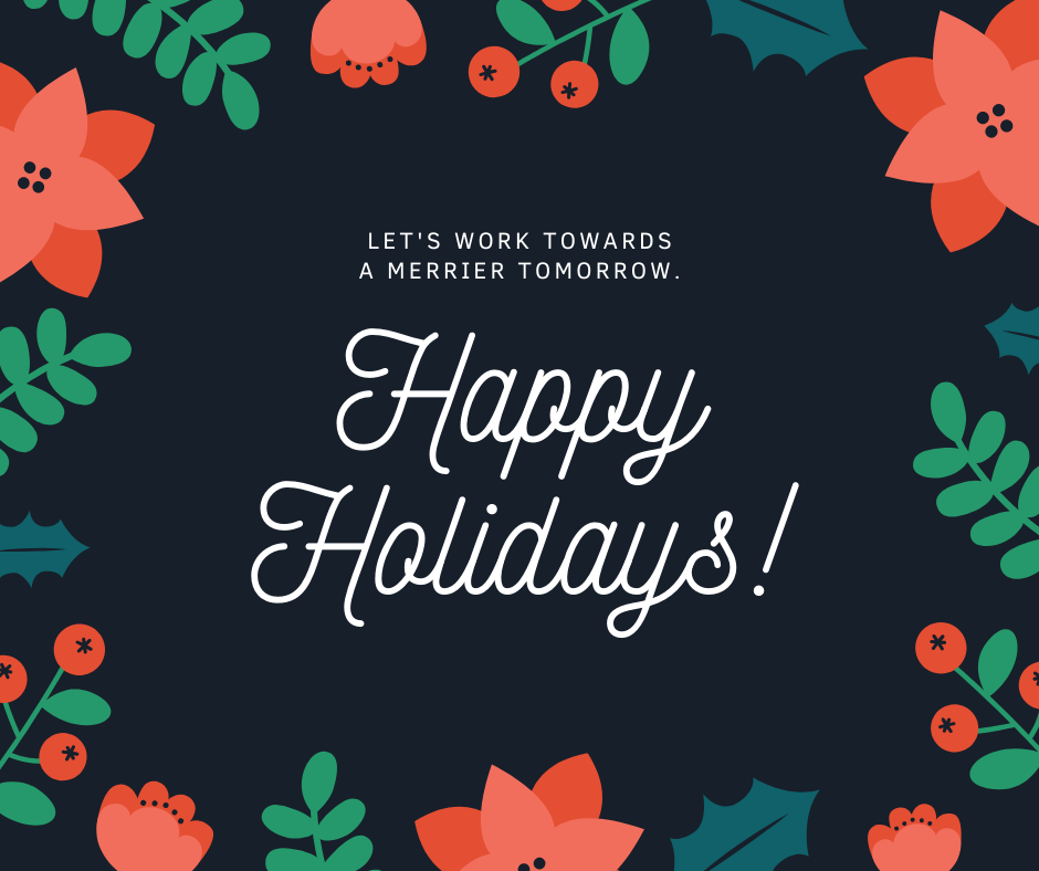 Holiday card with flower design