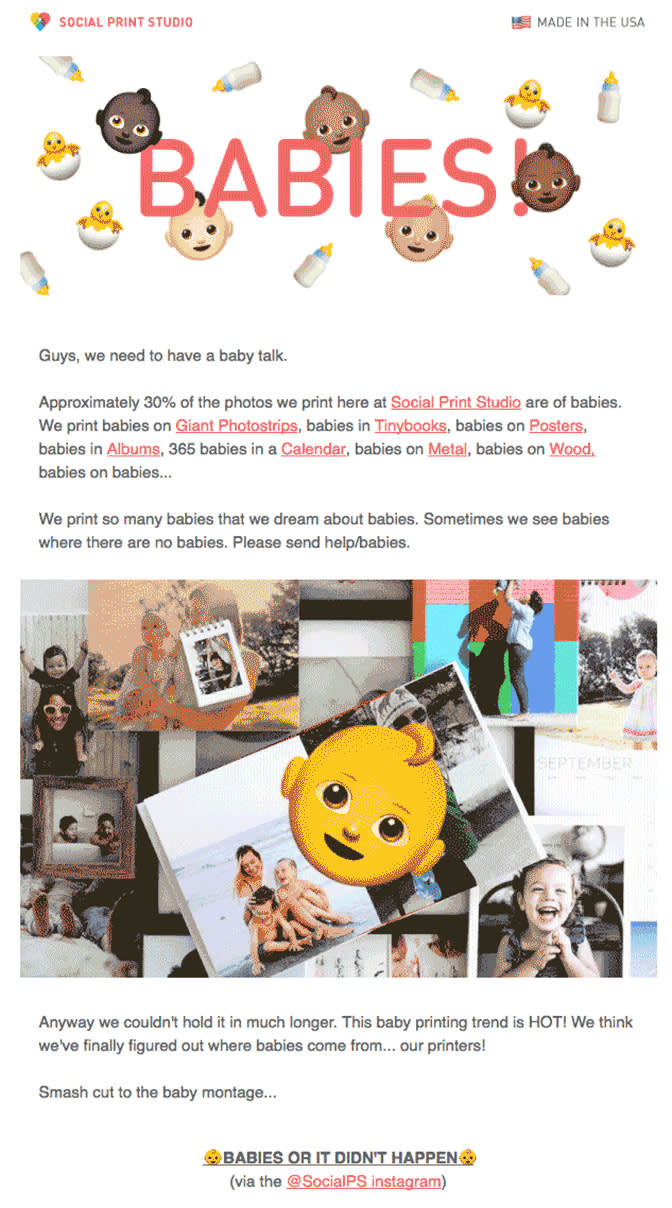 A newsletter about babies