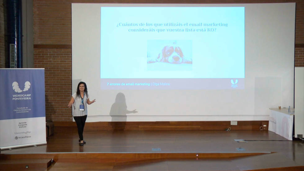Image of person giving a presentation.