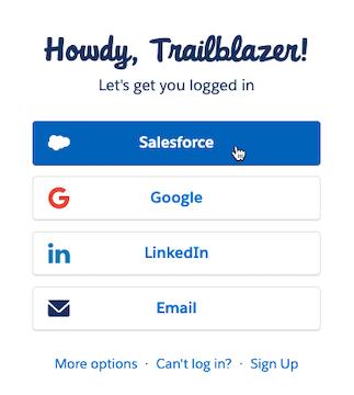 Cursor Clicks - Salesforce Login Option - Mailchimp for Salesforce