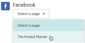creador-campañas-publicación-redes-sociales-facebook-seleccionar-página