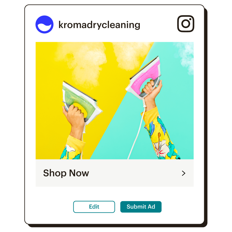 Example of an Instagram ad that reads Shop Now