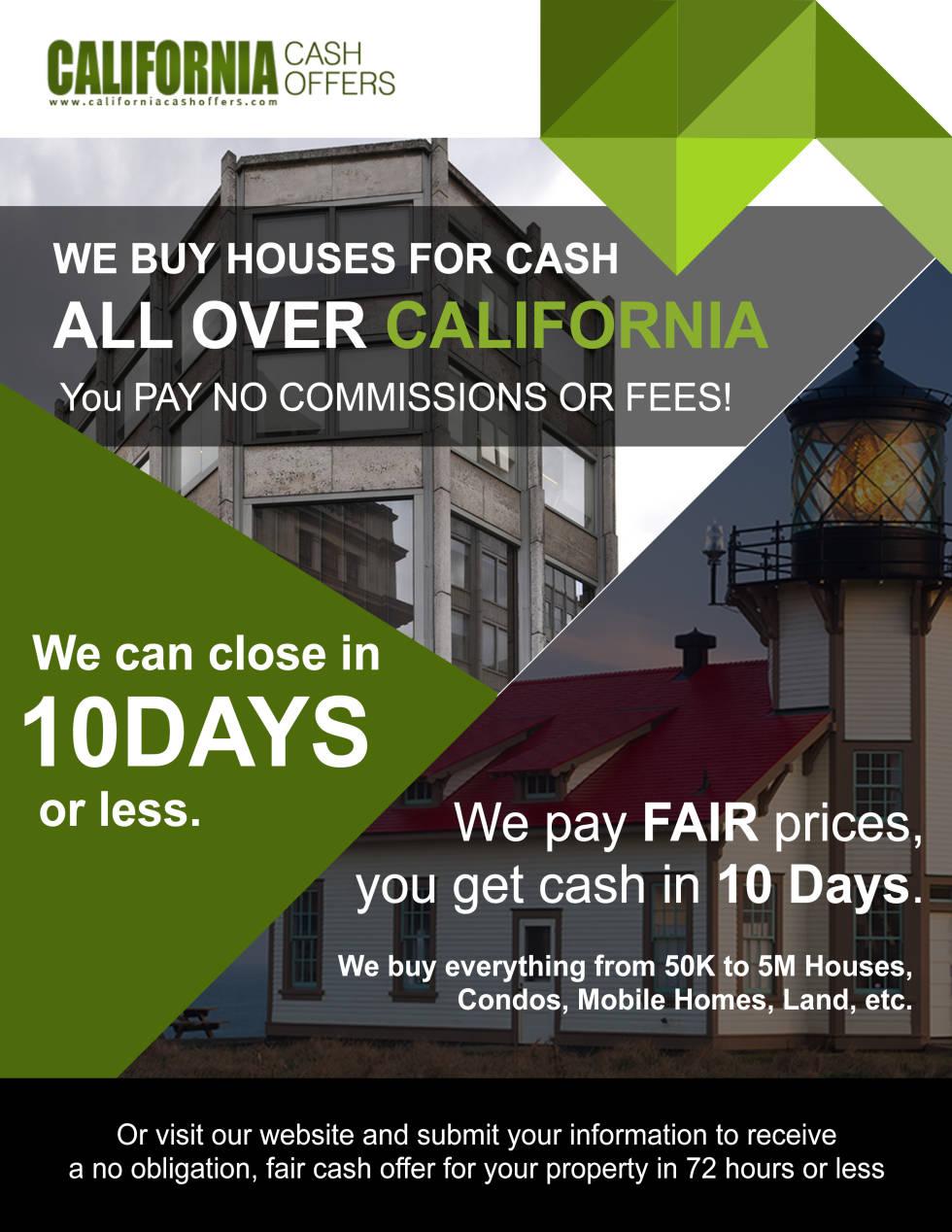 California Cash Offers website