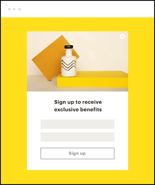 An example of a Signup Form built with Mailchimp