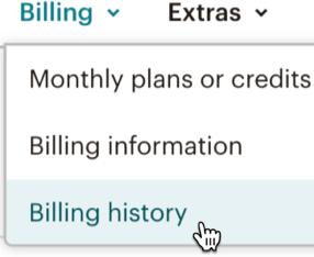 billing history