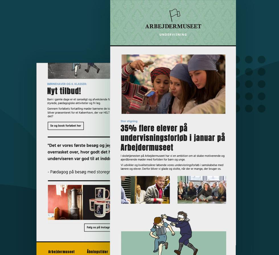 Image of Arbejdermuseet newsletter