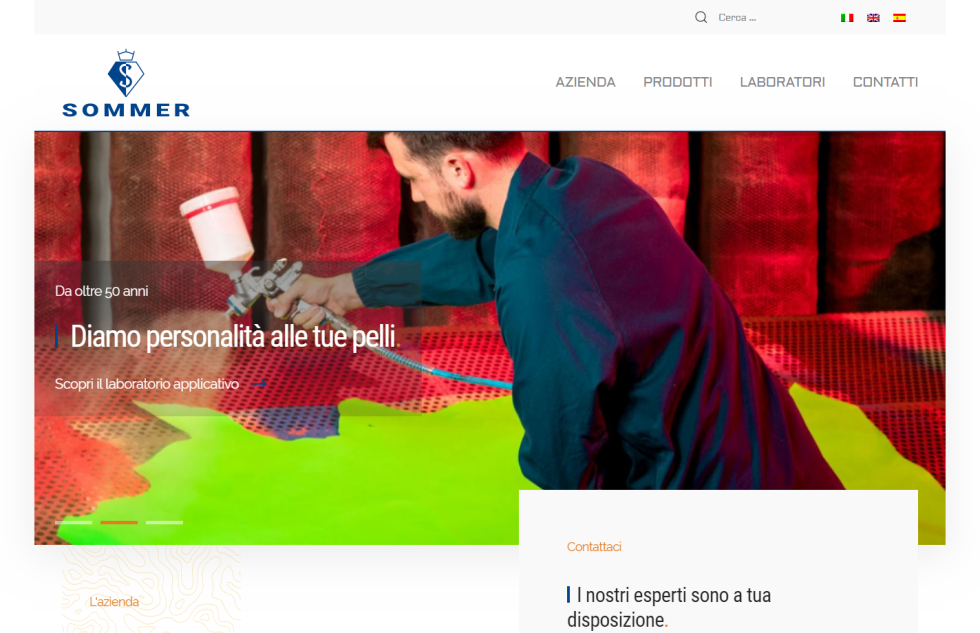 Image of Sommer webpage with a man spray painting