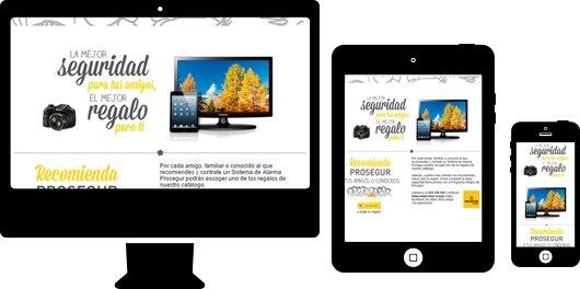 Image of advertisement on multiple devices