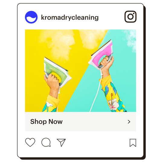 Example of an Instagram ad that reads shop our spring collection.