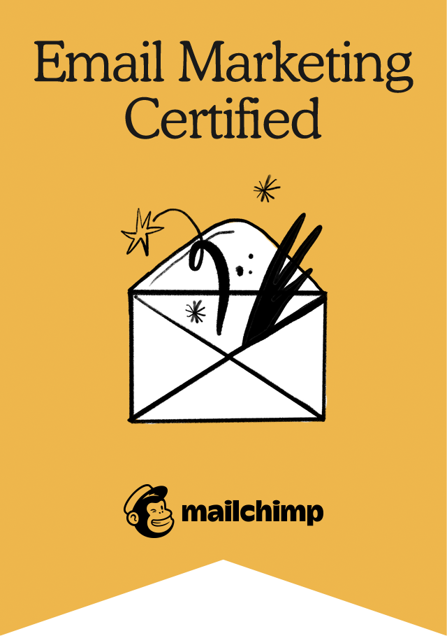 Image of Mailchimp Email Marketing Certified badge