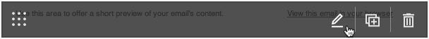 Cursor clicks the edit icon in the content block.