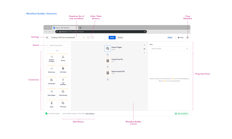 Image of tray.io workflow builder