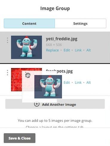 Reorder images in Image Group