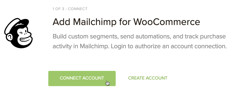 Cursor Clicks - Connect Account - Mailchimp for WooCommerce