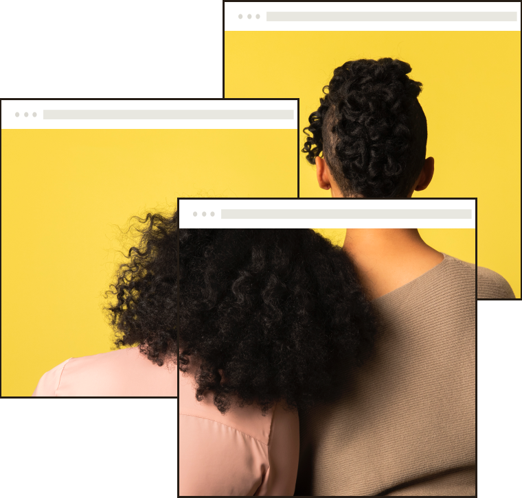 Multiple web pages all stacked on each other