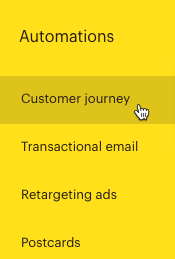 Cursor Clicks - Customer journey Submenu