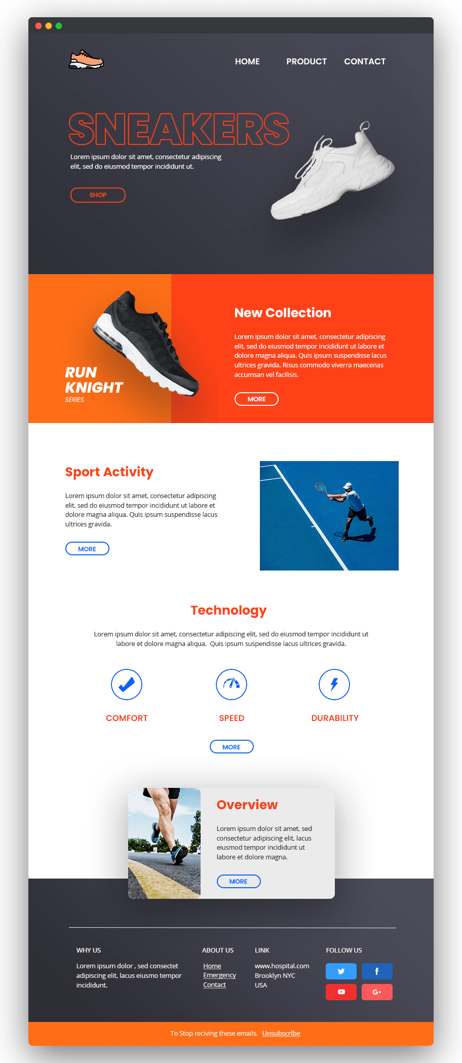Image of newsletter with shoes