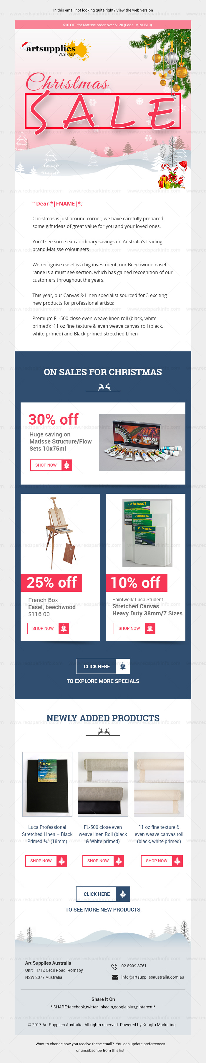 Art Supplies Australia website